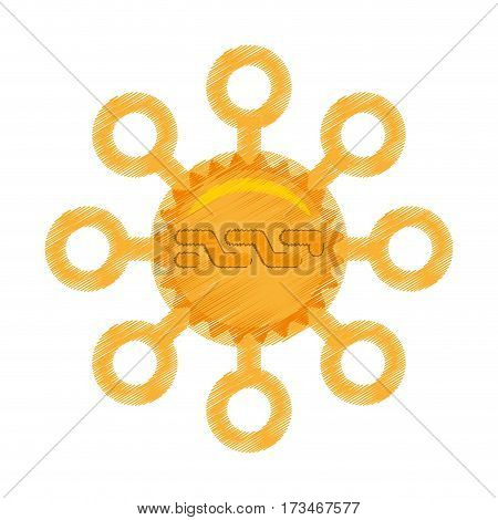 drawing nxt coin web icon vector illustration eps 10