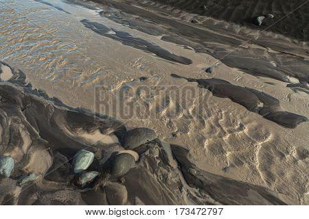River Studenaya in the morning. Kamchatka Peninsula.