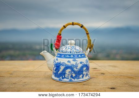 Chinese style teapot at  YUN LAI viewpoint, Thailand