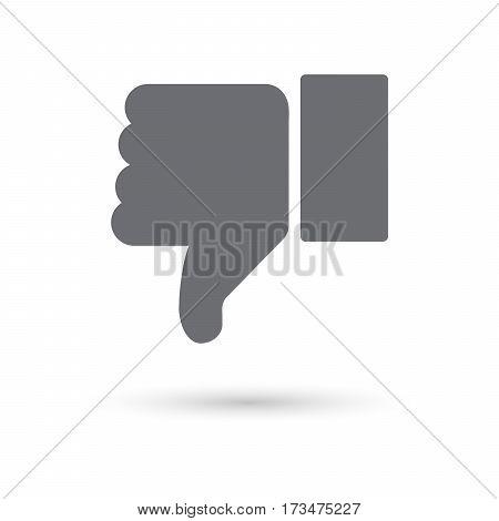 Dislike icon isolated on white background. Vector illustration.