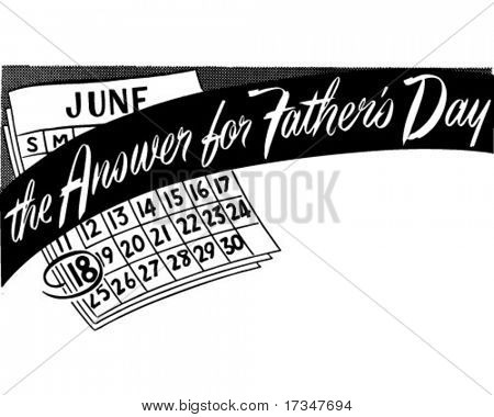 The Answer For Fathers Day - Ad Banner - Retro Clipart