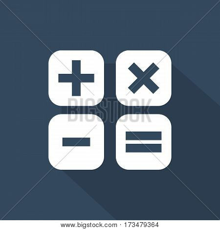 Math Icon Math Icon Vector in flat style .