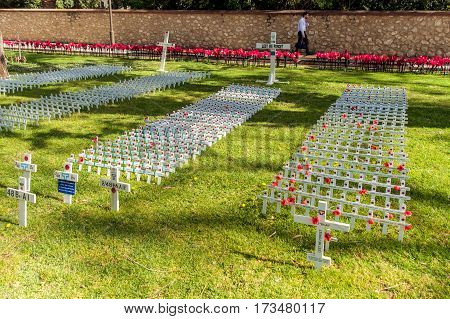 Adelaide Australia - November 11 2016: Remembrance Day traditional ceremony in Adelaide South Australia