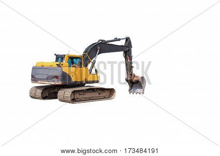 Excavator isolated in a isolate white background