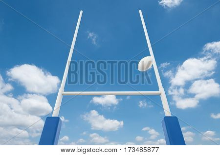 Rugby Posts With Blue Sky