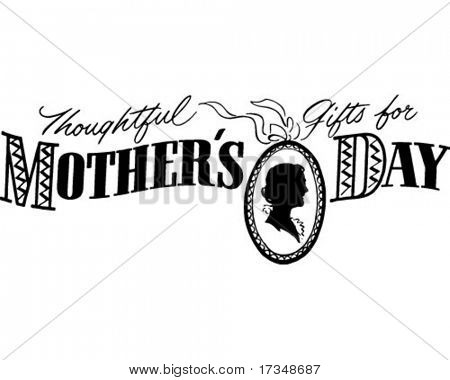 Thoughtful Gifts For Mother's Day - Ad Banner - Retro Clipart