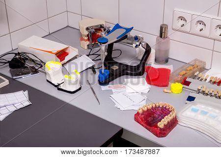 Dentist Table With Various Things