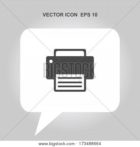 fax vector icon isolated on white background