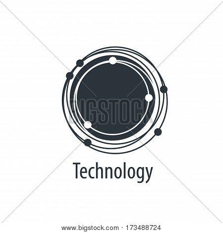 logo design template technology. Vector illustration of icon