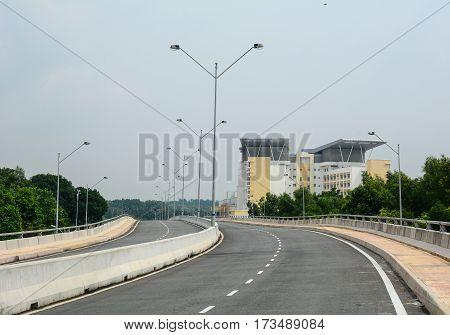 Empty Street In Kuala Lumpur, Malaysia