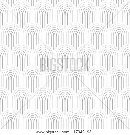 Grey white thin outlined seamless background vector illustration
