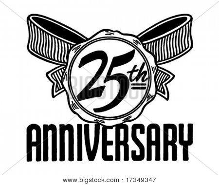 25th Anniversary - Retro Ad Art Banner