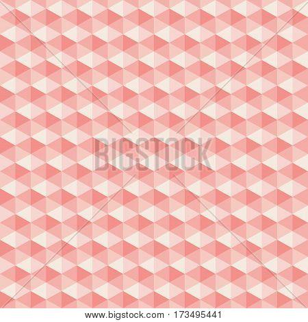 Pink light hexagon seamless background vector illustration