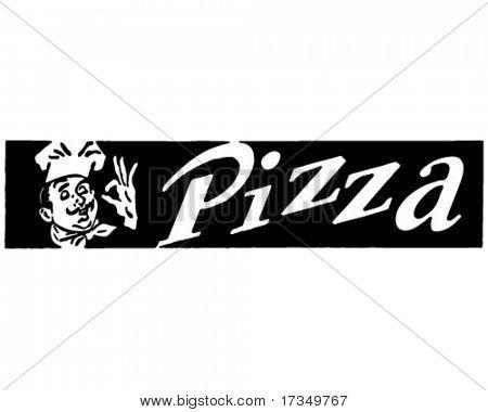Pizza 2 - Retro Ad Art Banner