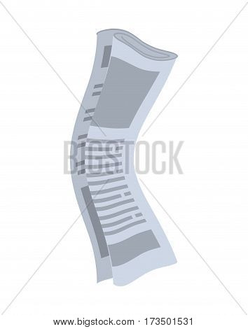Roll Of Newspapers Isolated. Rolled Of Publications On White Background