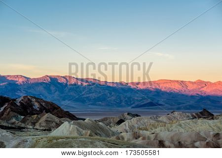 Death Valley National Park - Zabriskie Point at sunrise. California, USA.