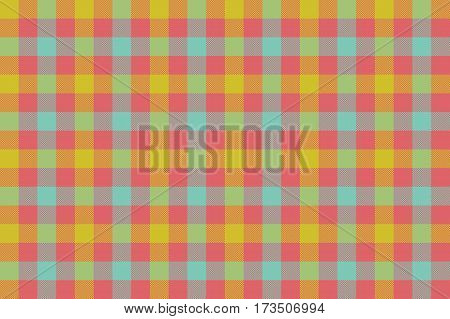 Check fabric texture background seamless pattern. Vector illustration. EPS 10.