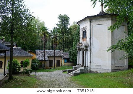 Mount Orta, Italy - 7 September 2013: Sacred Mount Orta on Piedmont Italy
