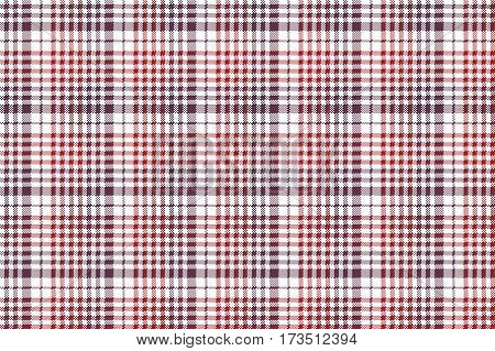 Pixel fabric texture check plaid tablecloth seamless pattern. Vector illustration.