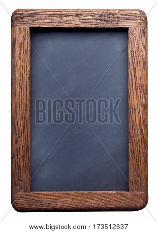 old school blackboard on a white background isolate