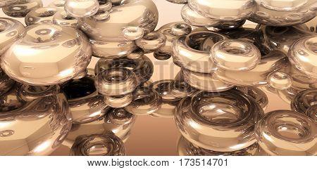 3D rendering of Background with golden torus