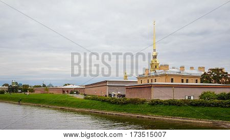 Peter and Paul Fortress in St. Petersburg Russia. September 18 2016