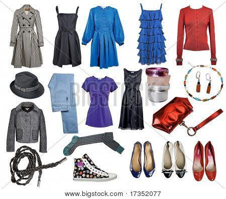 collection of clothes and accessories