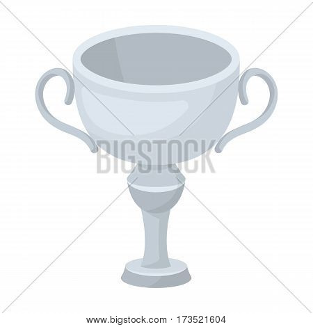 Silver award winner of the competition. The Cup for second place. Awards and trophies single icon in cartoon style vector symbol stock web illustration.