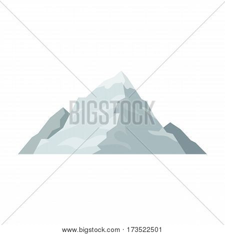 Ice mountain covered with snow.A mountain for skiing. Different mountains single icon in cartoon style vector symbol stock web illustration.