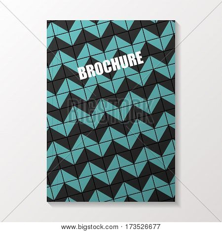 Abstract brochure. Flyer or book cover design. Vector illustration