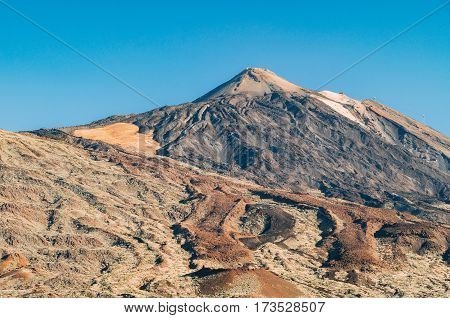 Lunar landscape of volcano El Teide Tenerife Canary islands Spain
