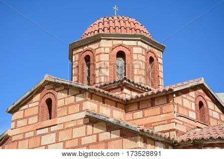 Church along Leof Plastira Heraklion Crete Greece Europe.
