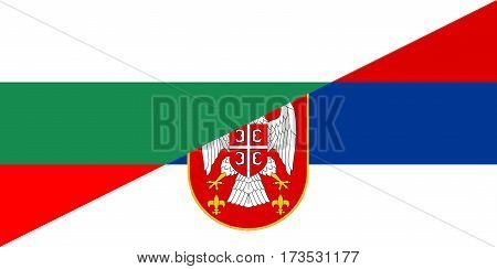 bulgaria serbia neighbour countries half flag symbol