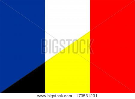 france belgium neighbour countries half flag symbol