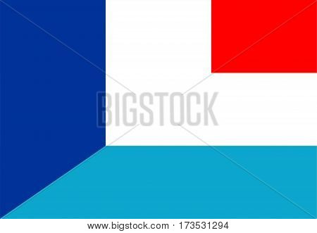 france luxembourg neighbour countries half flag symbol