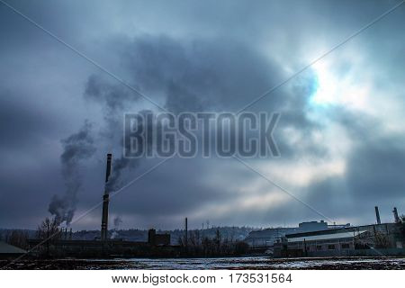 Air pollution - nature damage - heavy industry - smog