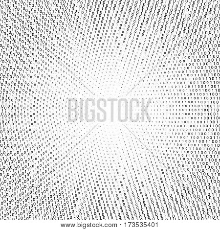 Vector abstract background with numbers one and zero on a white background. Suitable for web backgrounds, wallpaper and presentations.