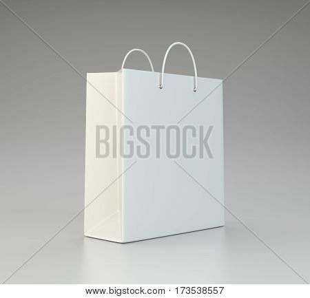 blank shopping paper bag template. 3d rendering