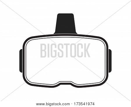 VR headset with blank visor for custom modifications