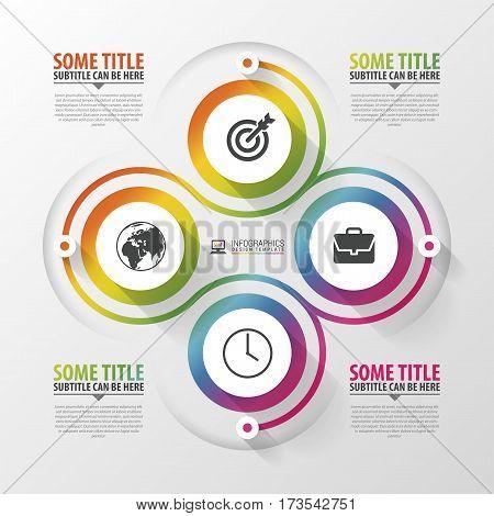 Spiral with diagram infographics element. Modern design template. Vector illustration.