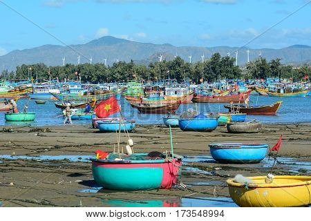 Fishing Village In Binh Thuan, Vietnam