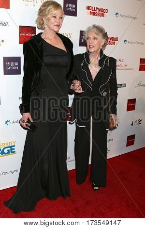 LOS ANGELES - FEB 26:  Melanie Griffith, Tippi Hedren at the Style Hollywood Oscar Viewing Dinner at Hollywood Museum on February 26, 2017 in Los Angeles, CA