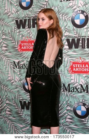 LOS ANGELES - FEB 24:  Ellie Bamber at the 10th Annual Women in Film Pre-Oscar Cocktail Party at Nightingale Plaza on February 24, 2017 in Los Angeles, CA