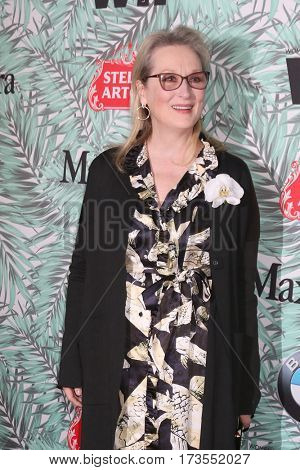LOS ANGELES - FEB 24:  Meryl Streep at the 10th Annual Women in Film Pre-Oscar Cocktail Party at Nightingale Plaza on February 24, 2017 in Los Angeles, CA