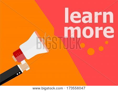 Learn More. Hand Holding A Megaphone. Flat Style