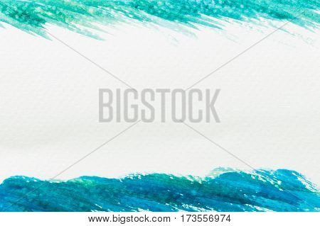 Abstract green and blue watercolor texture for background with copyspace