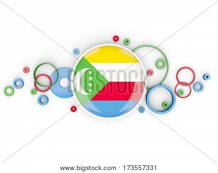 Round Flag Of Comoros With Circles Pattern