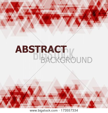 Abstract red triangle overlapping background, stock vector
