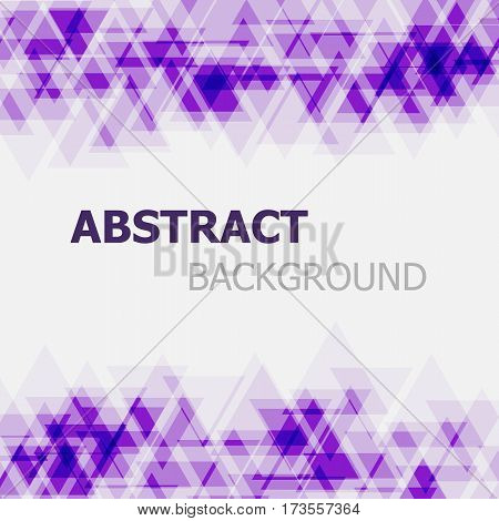 Abstract purple triangle overlapping background, stock vector