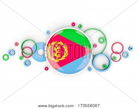 Round Flag Of Eritrea With Circles Pattern